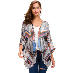 67b530b77111b Taydey Women s Floral Print Sheer Loose Kimono Cardigan Capes at ...