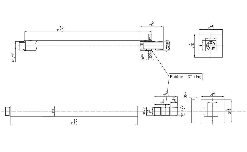 BAI 0434 and 0424 Technical Drawings
