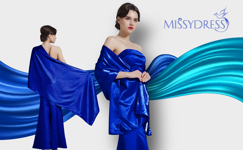 This elegant shawl is made of a luxurious Silk Satin designed with love and can be worn with evening gown or over any coat, dress to cover up your shoulders ...
