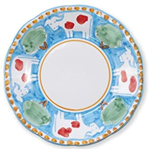 Amazon Com Vietri Mucca Salad Plate Campagna Collection Salad Plates