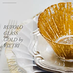 gold bowl layered with white stoneware from incanto