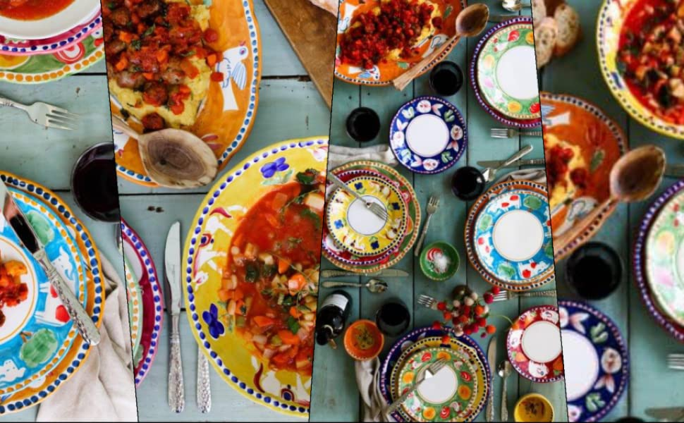 campagna vietri colorful tableware