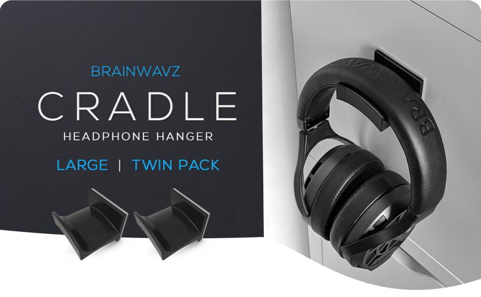 Brainwavz headphone hanger cradle black twin pack earphones sennheiser  Brainwavz Cradle Large – 2PK – Headphone Hanger, Universal Stand for Sennheiser, Sony, Bose, Beats, AKG, Audio-Technica, Gaming Controller, Cables, Gamepad & Other Gaming Accessories 305caf1c 593b 435d aee4 c98b48ec9261