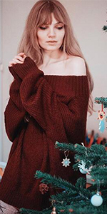 Christmas Off Shoulder Sweater