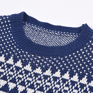 Exlura Unisex Patterns Reindeer Ugly Christmas Sweater Pullover Cardigan