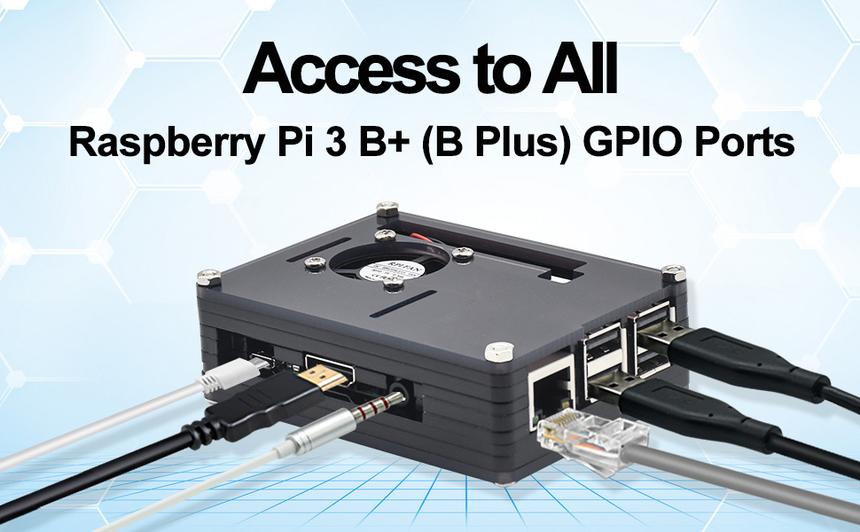 Amazon.com: REXQualis - Carcasa para Raspberry Pi 3 B+ (B ...