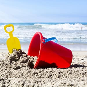 sand scoop at beach