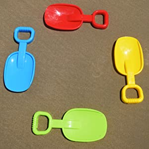 set of four beach sand scoops
