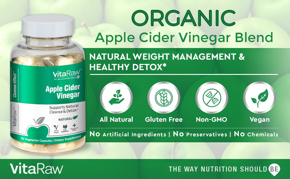Apple Cider Vinegar Capsules Pills Best Cleanse for Weight Loss and Detox For Men and Women Pill