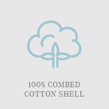 100% Combed Cotton Shell