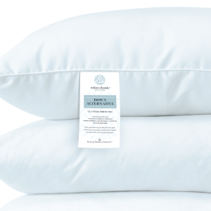 White classic | rich down-alternative cluster fiber fill pillows