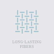 Long lasting ringspun fibers soft towels