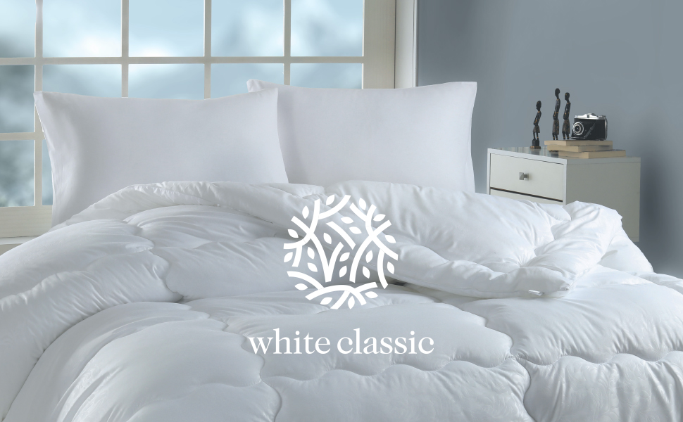 White classic pillows header
