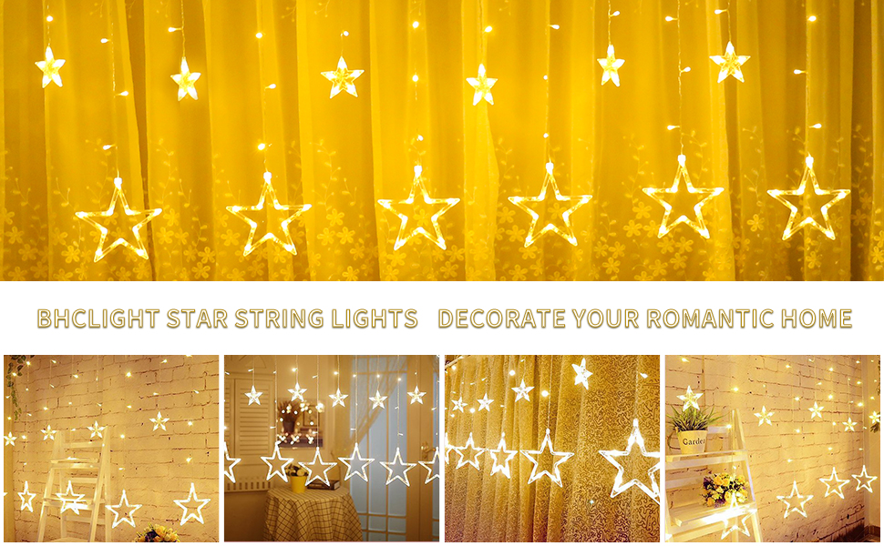 led holiday star curtain lights window curtain lights wedding backdrop lights curtain string lights