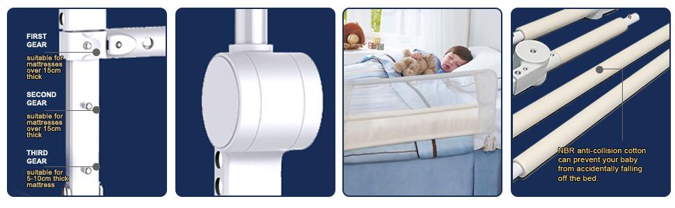 Amazon.com: KOOLDOO - Barrera de seguridad para cama ...