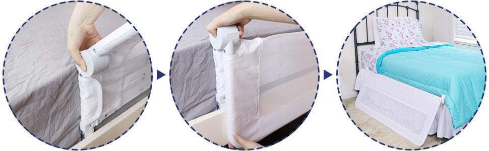 Amazon.com: KOOLDOO - Barra de seguridad plegable para cama ...