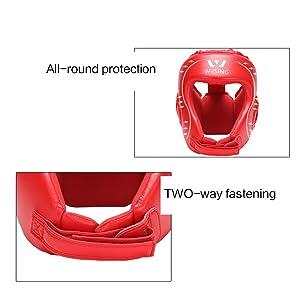 protective headgear, blue boxing headgear