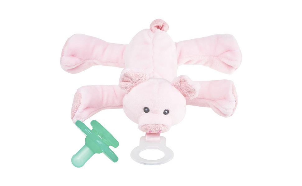 Amazon.com: nookums paci-plushies Pig shakies- chupete y ...