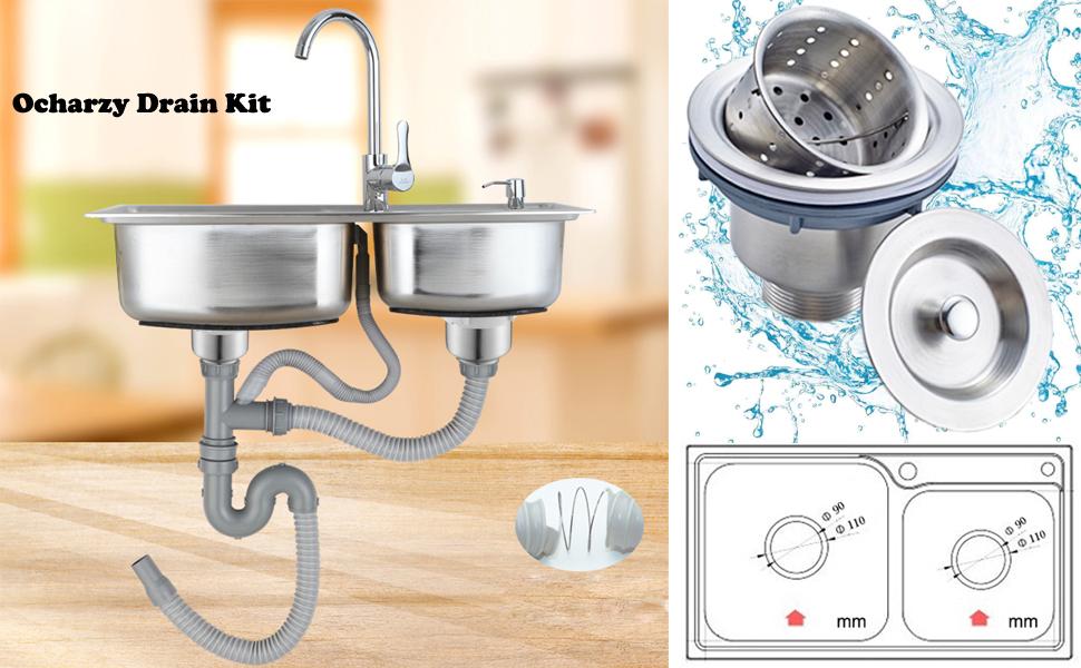 herramienta de drenaje Desatascador de drenaje azul 1 unidad de fregaderos de ba/ño y cocina