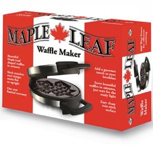 Canadian Maple Leaf Waffle Maker Box