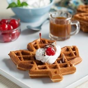 Maple Leaf waffle on plate