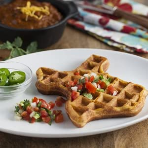 Texas waffle with peppers