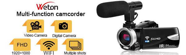 Weton microphone wifi camcorder