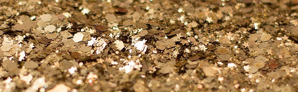 gold face glitter karizma