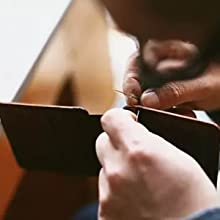All wallets are handcrafted by experienced craftsmen to reduce the damage that produced by machine.