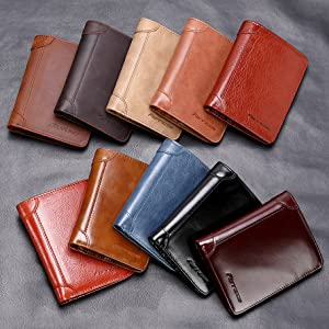 A variety of leather styles for you : Crazy Horse leather, Napa leather and Oil wax leather, etc.