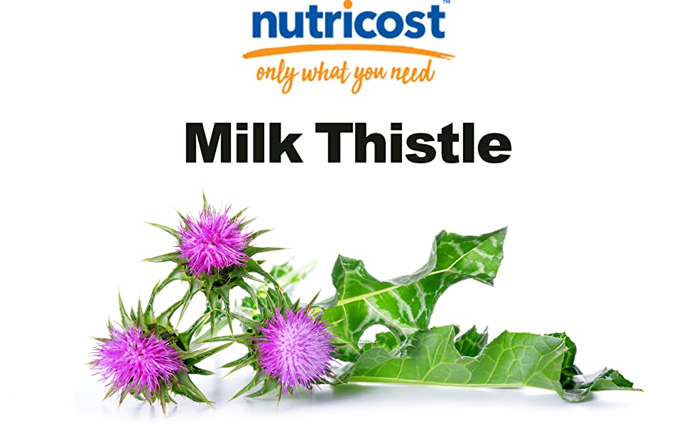 milk thistle capsules by Nutricost