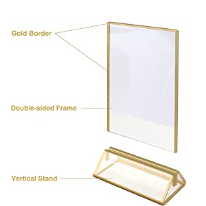 clear sign holder acrylic
