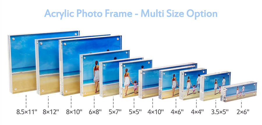 Amazon.com - 8x10 Acrylic Picture Frame, Clear 15 + 15MM Thickness ...