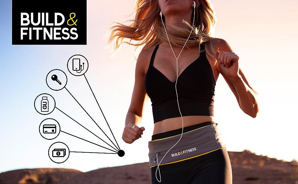 Adjustable Zipper Running Belt icons