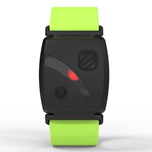 scosche rhythm 24 center LED zone indicator heart rate monitor armband waterproof cycling running