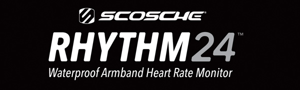Scosche Rhythm 24 waterproof armband heart rate monitor optical bluetooth ANT+ swimming cycling