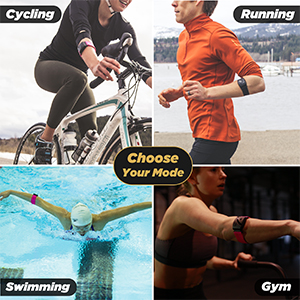 mode cycling running swimming heart rate variability HRV heart rate monitor scosche rhythm 24