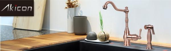 copper kitchen faucet