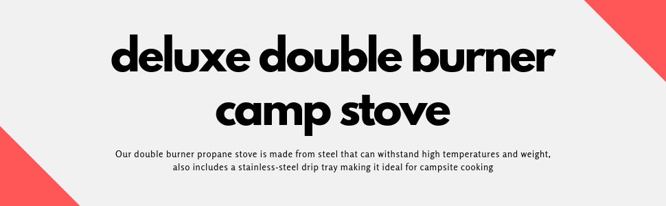 men women family camping traveling double burner stove heat propane fun camp portable collapsible