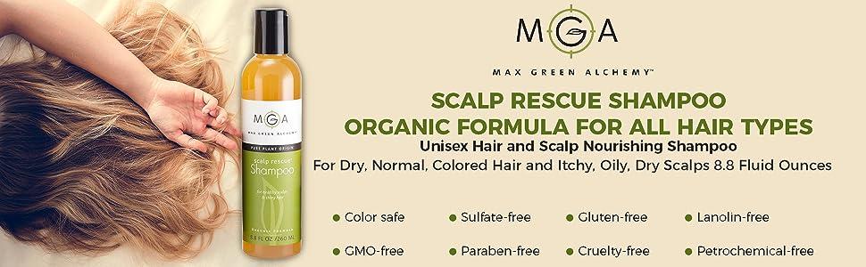 Scalp Rescue shampoo main points