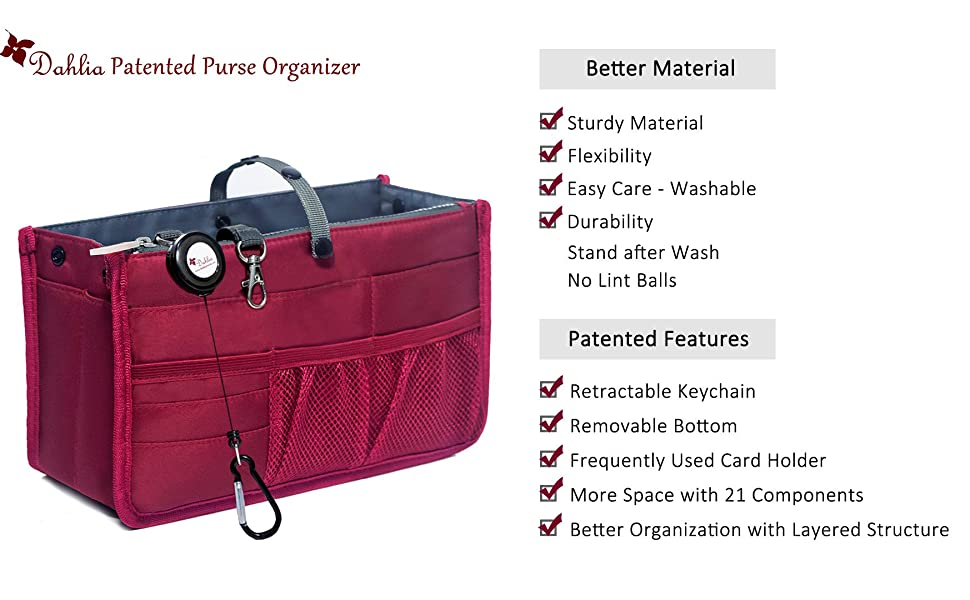 Dahlia Patented Purse Organizer Summary
