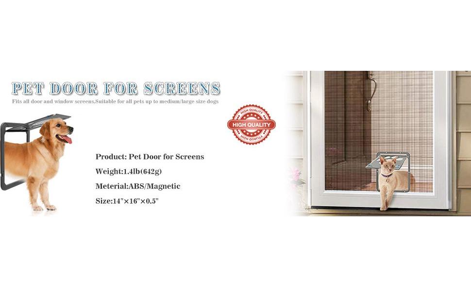 Catoop Dog Screen Door Pet Screen Door Protector For Sliding Door