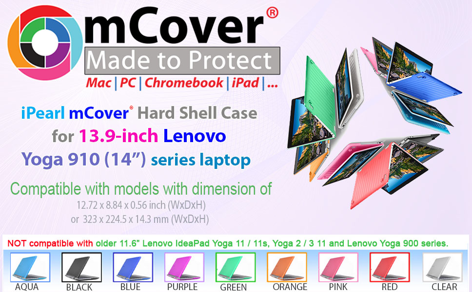 iPearl mCover Hard Shell Case for 13.9