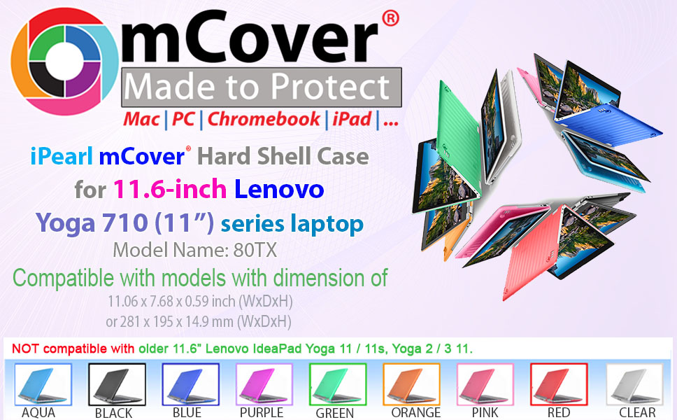 mCover iPearl Hard Shell Case for New 11.6