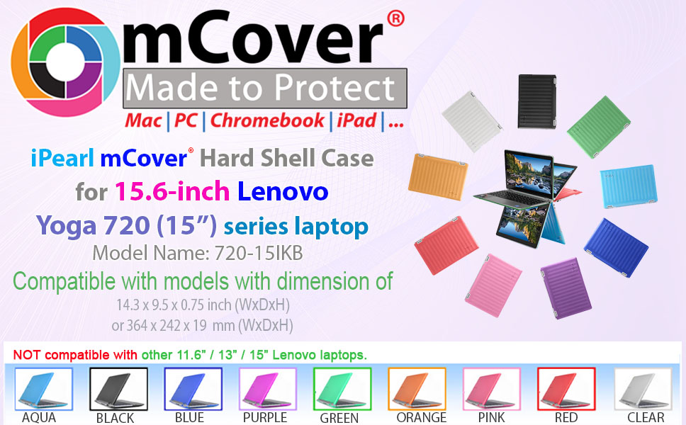 Amazon.com: mCover Hard Shell Case for 15.6