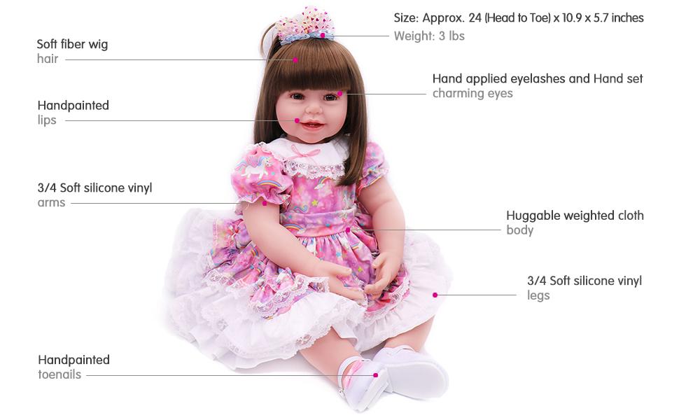 16-Inch Purple Lovely Baby Girl for Children Vinyl Doll Ballet  Christmas Gift