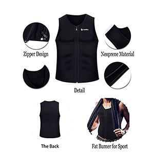 a98ce78d4d4e3c sauna vest men workout body shaper weights fat burn neoprene sweat waist  trainers slimming tank