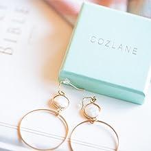 be8ca2eff 14K Gold Lightweight Mother of Pearl Circle Drop Dangle Earrings for Women  Girls --- SAME SET EARRINGS!!!