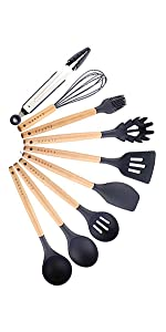 Silicone Cooking Utensils Blue 20