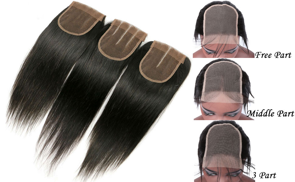 amazon com 3 part lace closure straight with baby hair
